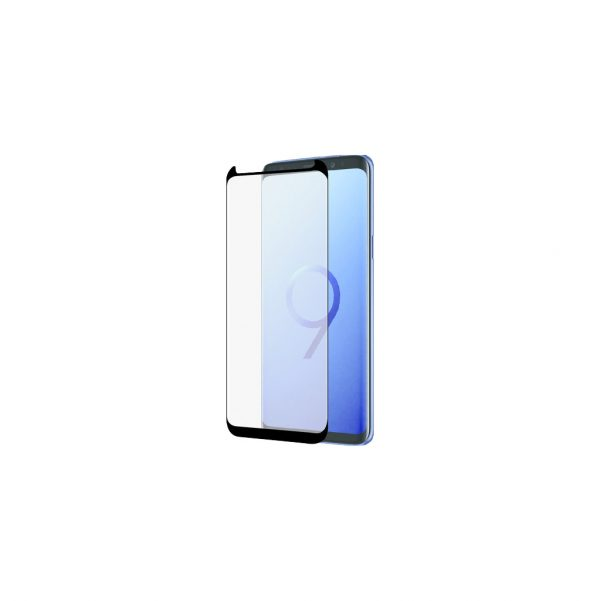 Azuri Curved Gehard Glas Samsung Galaxy S9 Plus Screenprotector Zwart