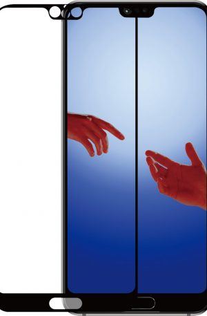 Azuri Gehard Glas Huawei P20 Screenprotector Glas Zwart