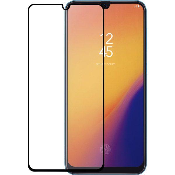 Azuri Gehard Glas Samsung Galaxy A70 Screenprotector Glas Zwart