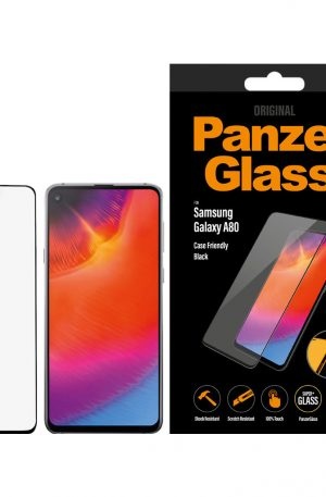 PanzerGlass Case Friendly Samsung Galaxy A80 Screenprotector Glas Zwart