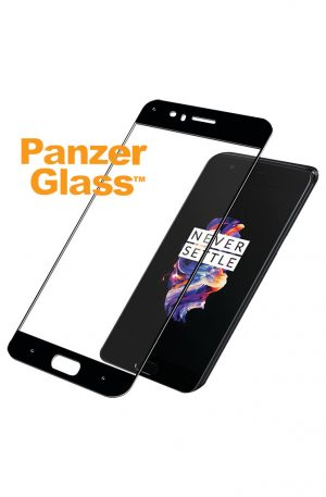 PanzerGlass OnePlus 5 Screenprotector Glas Zwart