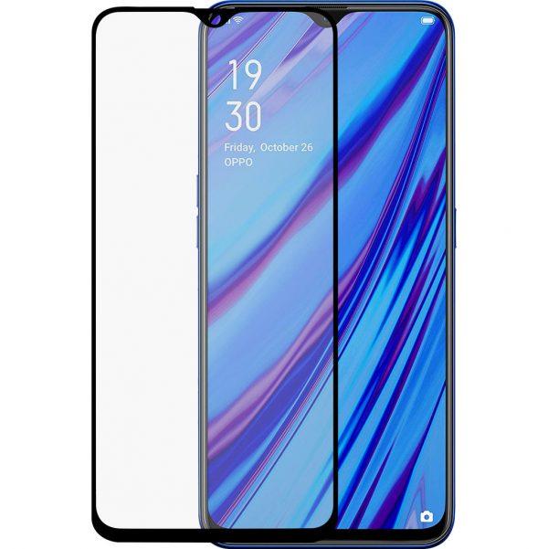 Azuri Rinox Oppo A9 (2020) Screenprotector Gehard Glas Zwart
