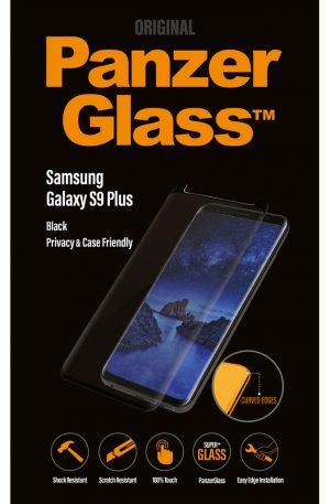 PanzerGlass Case Friendly Privacy Samsung Galaxy S9 Plus Screenprotector Glas Zwart