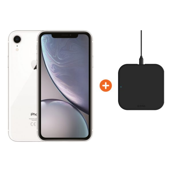Apple iPhone Xr 128 GB Wit + ZENS Slim Line Draadloze Oplader