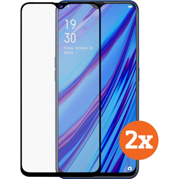 Azuri Tempered Glass OPPO A9 (2020) Screenprotector Duo Pack