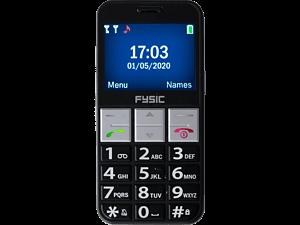 FYSIC FM-7810 Senioren Mobiele Telefoon - 16 MB Zwart