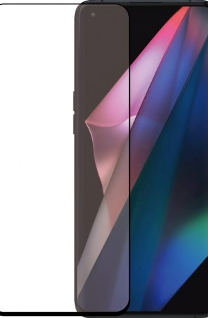 Azuri Curved Tempered Glass Oppo Find X3 Pro Screenprotector Zwart