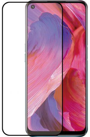 Azuri Tempered Glass Oppo A54 Screenprotector Zwart