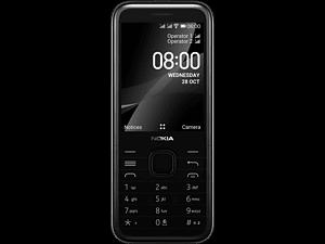NOKIA 8000 4G - 4 GB Dual-sim Zwart